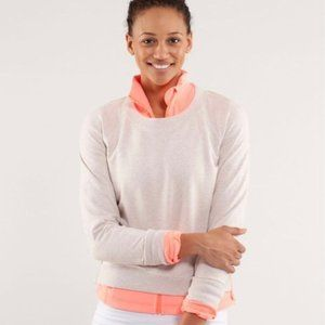 LULULEMON 8 rejuvenate pullover tan sweatshirt